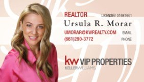 Ursula Morar's Realtor Business Card