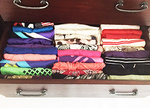 Organized clothes drawer