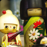 Wooden Dolls in the Shape of Children