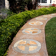 Mendoza Residence - Garden Path with Chinese Coins